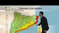 Previsió diumenge tarda i dilluns 19/11/18