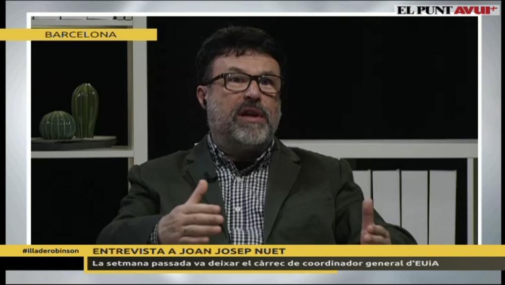 El polític, en un moment de l'entrevista
