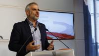 El portaveu de Cs, Carlos Carrizosa, a la roda de premsa d'aquest dimarts al Parlament