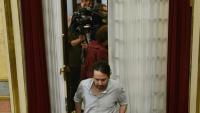 El líder de Podem, Pablo Iglesias, aquest dimarts al Congrés