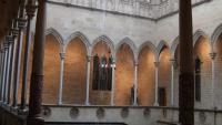 Imatge de la galeria gòtica de la Generalitat