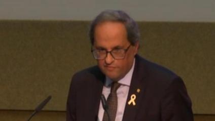 El president Torra, aquest dimecres a la Universitat de Ginebra