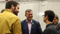 El president de l'AMI, Josep Maria Cervera (c), a l'executiva que l'entitat ha celebrat aquest divendres a Sant Celoni