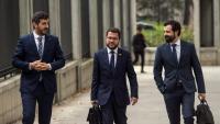 El vicepresident i conseller d'Economia del govern català, Pere Aragonès, arribant aquest divendres al ministeri d'Economia
