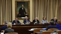 Una imatge de la sessió de la Comissió de Defensa, aquest dimarts al Congrés