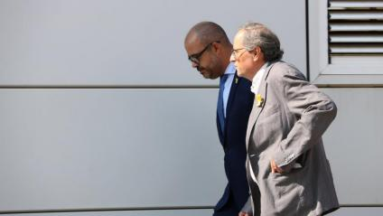 El president de la Generalitat, Quim Torra, i el conseller d'Interior, Miquel Buch, en una imatge d'arxiu