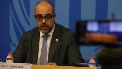 Miquel Buch, conseller d'Interior de la Generalitat