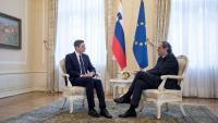 El president d'Eslovènia, Borut Pahor, i el de la Generalitat, Quim Torra, el passat dijous a Ljubljana