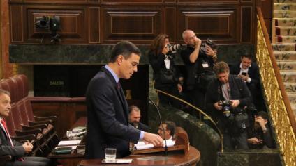 Pedro Sánchez, aquest dimecres al Congrés