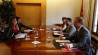 Reunió entre els comuns i el govern per abordar els pressupostos, el passat 29 de novembre al departament d'Economia