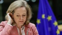 La ministra espanyola d'Economia, Nadia Calviño, aquest dimarts a la reunió de l'Ecofin