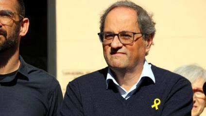 El president de la Generalitat, Quim Torra, aquest diumenge a Sabadell