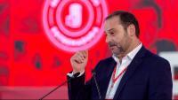 El secretari d'Organització del PSOE, José Luis Ábalos, dissabte en un acte del partit a Mèrida, l'endemà de l'incident
