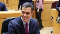 El primer ministre espanyol, Pedro Sánchez, aquest dimarts al Senat