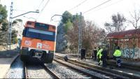 Imatge d'un dels trens que va xocar el 8 de febrer a Castellgalí