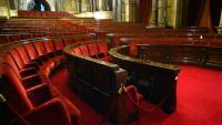 Vista del saló de plens del Parlament