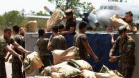 Soldats brasilers descarreguen un avió amb ajuda nord-americana per a Veneçuela a Boa Vista, la capital de l'Estat de Roraima