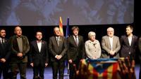 Foto de família a l'acte de presentació del Consell per la República, el passat desembre a Brussel·les
