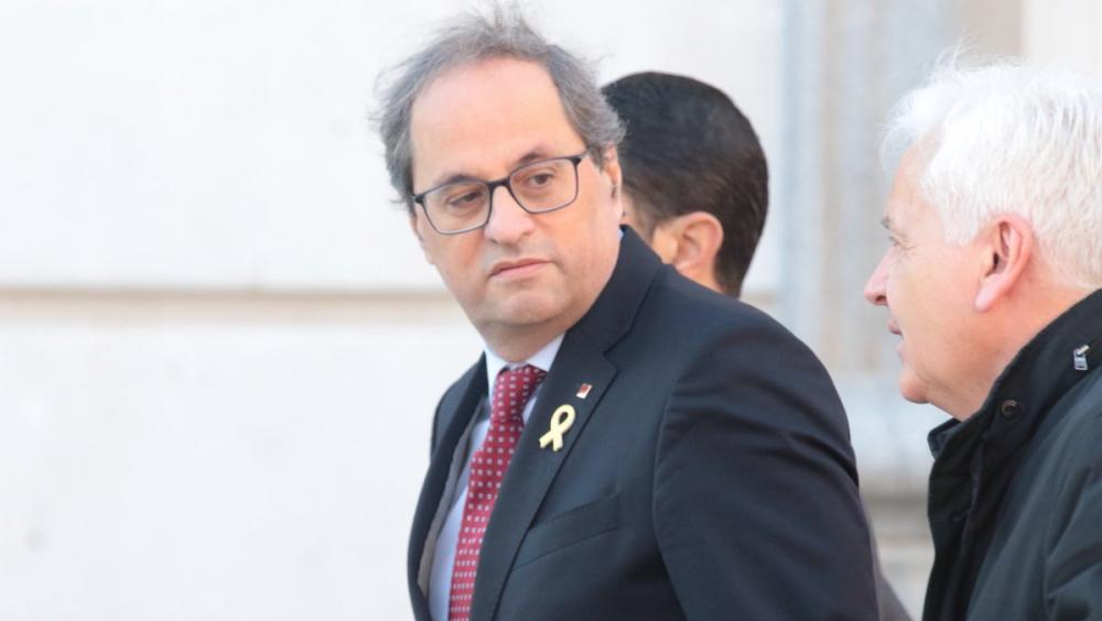 El president de la Generalitat, Quim Torra, arribant al Tribunal Suprem el passat 12 de febrer