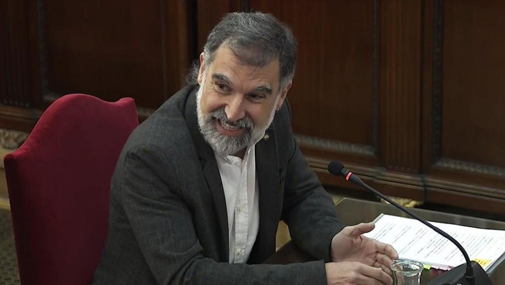 El líder d'Òmnium, Jordi Cuixart, en una sessió del judici de l'1-O