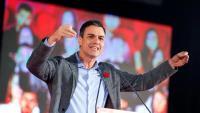 El líder del PSOE, Pedro Sánchez, aquest dimecres a Gijón
