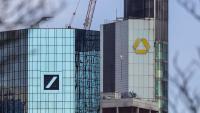 Vista de les seus del Deutsche Bank i Commerzbank, a Frankfurt