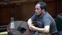 L'exdiputat de la CUP David Fernàndez, aquest dijous al Tribunal Suprem