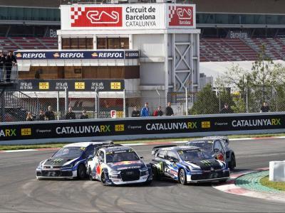 Típica lluita d'una mànega de ral·licròs, durant l'edició de l'any passat del CatalunyaRX