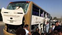 L'explosió ha trencat els vidres de l'autocar, aquest diumenge a Gizeh