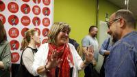 L'alcaldessa de l'Hospitalet de Llobregat, Núria Marín, celebra el seu resultat a les eleccions municipals d'aquest diumenge