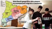 Infància acull en centres 4.133 menors migrats