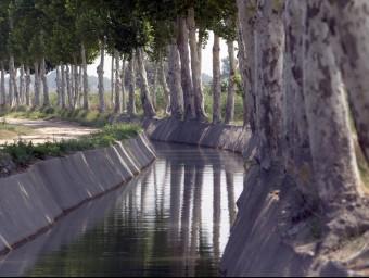 Canal d'Urgell en el pas a tocar de Vallfogona de Balaguer.  ARXIU / ANDREU PUIG