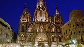 Fira de Santa Llúcia a Barcelona ARXIU