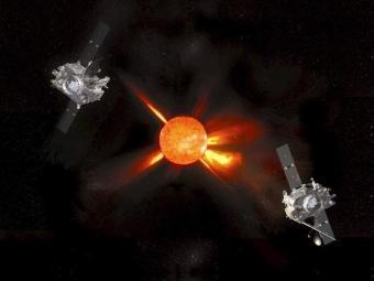 Simulació dels satèl·lits Stereo observant el Sol NASA