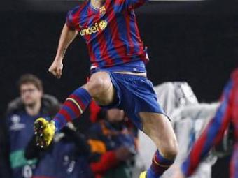 Ibrahimovic celebra el gol que ha donat l'empat al Barça l'empat al camp de l'Stuttgart   REUTERS