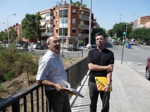 Francesc Ribot i Jordi Albaladejo, d'ERC, a Morera.  M.M