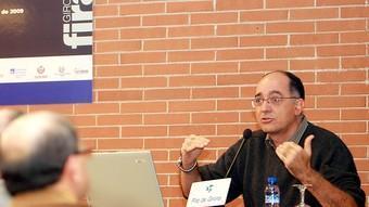 Joan Josep Galí, durant la seva xerrada ahir a la fira.  M.LL