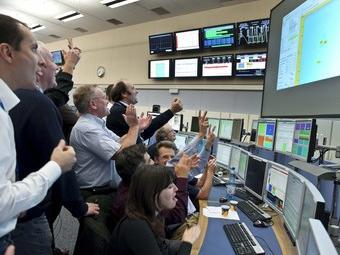 Científics del centre de control del CERN. EFE