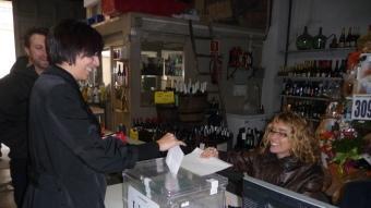 Un dels vots a Castellar del Vallès, durant la primera onada de consultes M.C.B