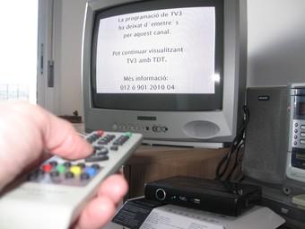 Tarragona i Reus, entre altres nuclis, es van quedar ahir sense televisió analògica.  N.SERRET