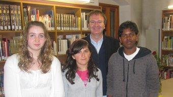 Els guanyadors del concurs literari.