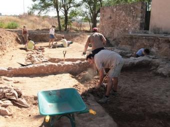 Activitat arqueològica al jaciment de Sant Pau de Riu-sec, durant la darrera intervenció del juliol de l'any passat E.A