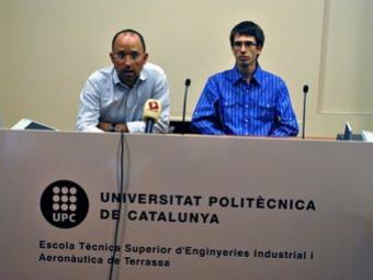 David González, sotsdirector de l'ETSEIAT,i Jordi Barrera, president local d'EUROAVIA EL PUNT