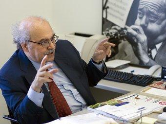 Andreu Mas Colell al seu despatx de la Universitat Pompeu Fabra FRANCESC MELCION