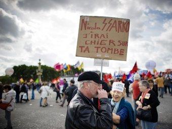 Una moment de la darrera manifestació a França contra la reforma de pensions.  Foto:ARXIU