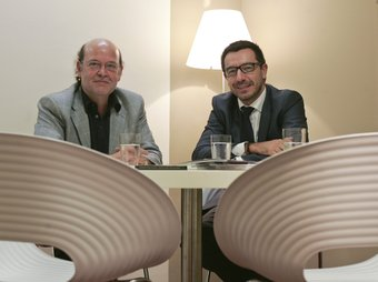D'esquerra a dreta, Marià Moreno i Francisco Gimenez, creadors de Building Comunities.  Foto:ROBERT RAMOS