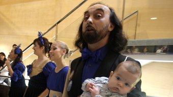 Paulo Lameiro, al vestíbul del Teatre Municipal de Girona, en una de les actuacions del diumenge passat. JULIETA SOLER