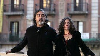 Juan Carlos Zagal i Laura Pizarro, director i actriu de Sin sangre. JOSEP LOSADA