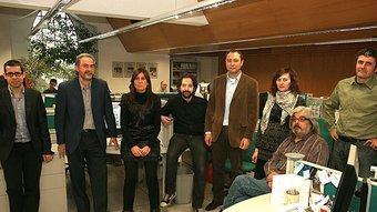 L'equip del setmanari L'Econòmic Manel Lladó