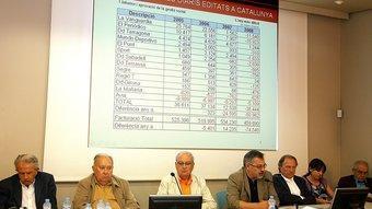 El consell d'administració d'Hermes Comunicacions, SA.   MANEL LLADÓ